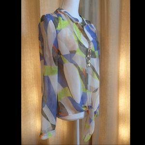Chico's Tie front, sequin, multi-color by Chico's